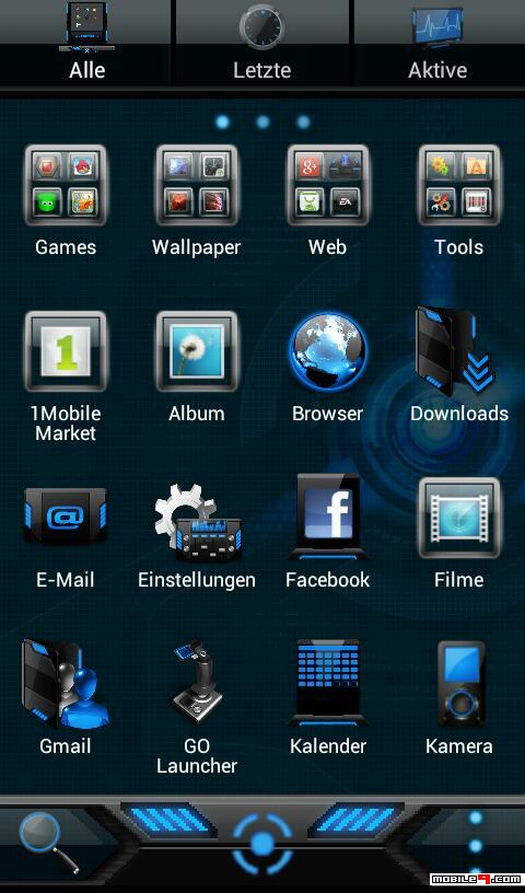 Download Hud Evolution Android Theme Go Launcher Themes